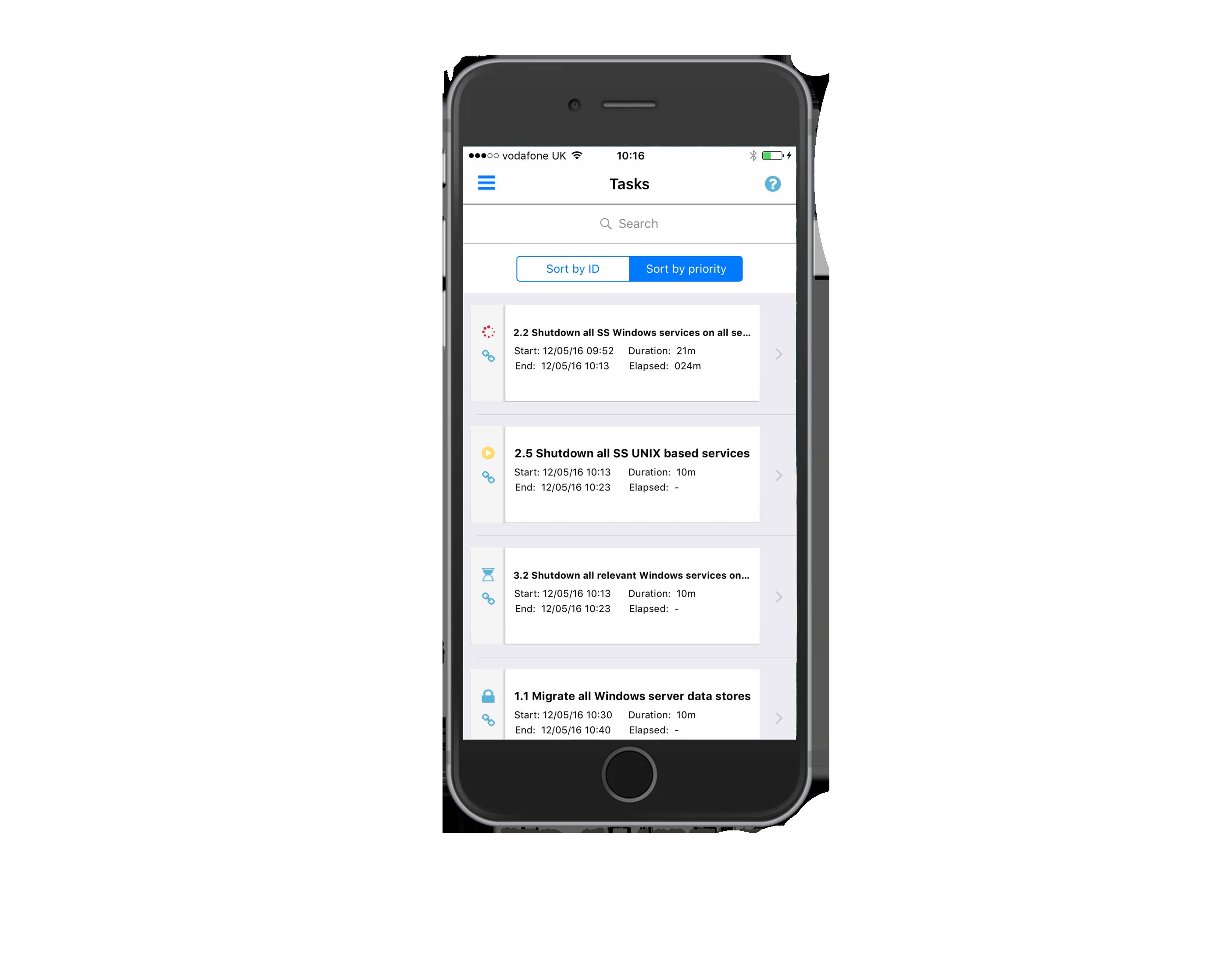 IPhone 7 Plus List Tasks
